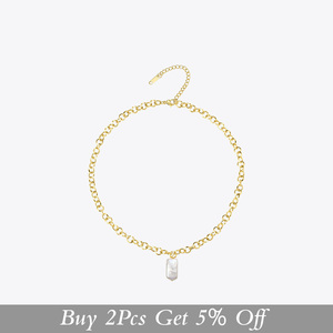 Image 2 - Enfashion boho concha corrente colar feminino ouro cor instrução natural mãe de pérola colares de aço inoxidável jóias p193025