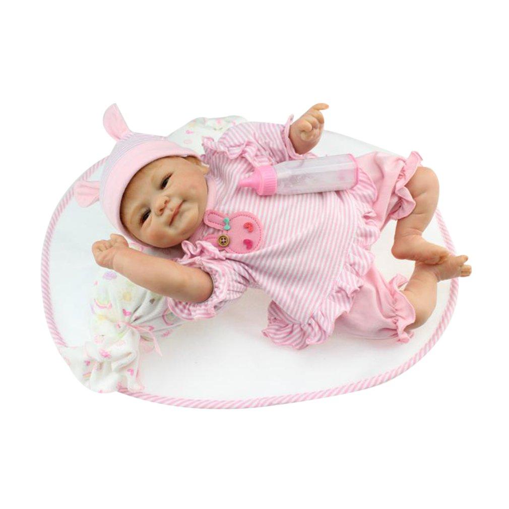 40/42/55cm Newborn Baby Doll Toys Full Body Soft Silicone Vinyl Baby Doll Handmade Lifelike Reborn Baby Doll Non-toxic Safe Toys