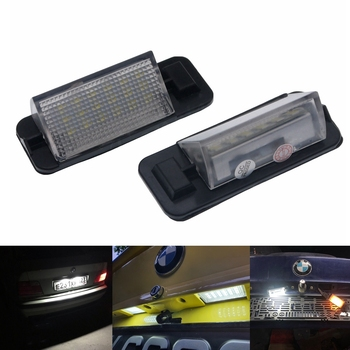 2Pcs Car Number License Plate Light Lamp For BMW E36 3 Series 318i 328i M3 320i 325i 318is 318ti 323i 325is 328is 92-98 image