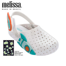 Mini Melissa Furadinha Babouche Sweet Dreams Girl Jelly Shoes Noctilucent Sandals 2020 Baby Shoes Melissa Sandals Kids Princess(China)