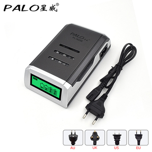 Image 1 - PALO Charger Universal C905W 4 Slots LCD Display Smart Intelligent Battery Charger for AA / AAA NiCD NiMH Rechargeable Batteries