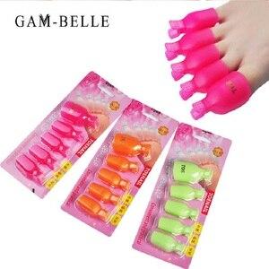 Гель-лак для ногтей GAM-BELLE, красные и розовые зажимы для снятия лака с ног, многоразовый педикюр, инструменты для ухода за ногтями, набор для м...