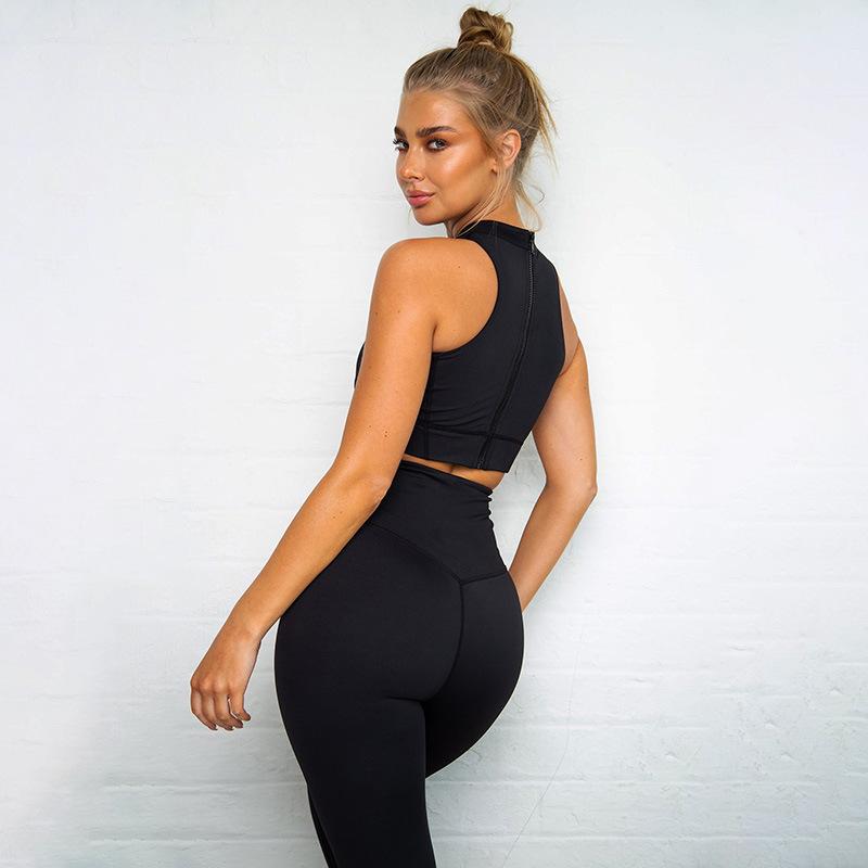 Женский комплект для йоги спортивный костюм одежда спортзала