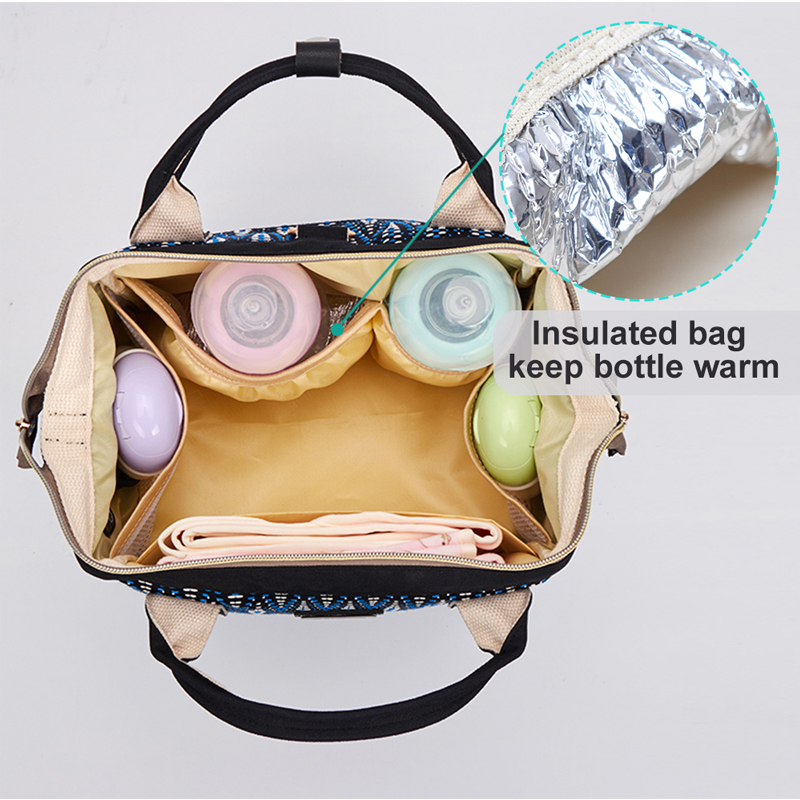 Multifunctional small waterproof Mummy Maternity nappy changing diaper bag backpack for moms baby stroller organizer bag