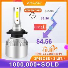 hlxg H4 LED H7 H11 H8 HB4 H1 H3 9005 HB3 Auto Car Headlight Bulbs Motorcycle 8000LM Car Accessories 6500K 4300K 8000K fog lights