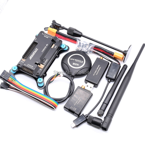 APM2.8 APM 2.8 flight controller board+M8N GPS built-in compass+shock absorber+xt60 power+433/915Mhz 100/500mw Radio Telemetry(China)