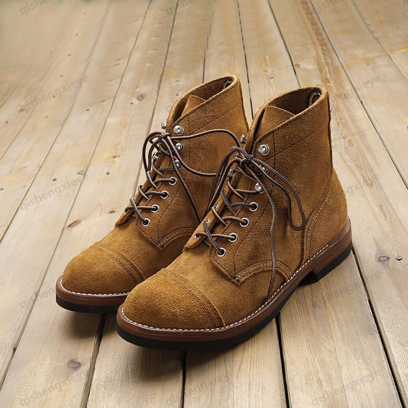 N-2 Super Quality Handmade Goodyear VIS American VIM Fleece Marine Work Boots Desert Boots