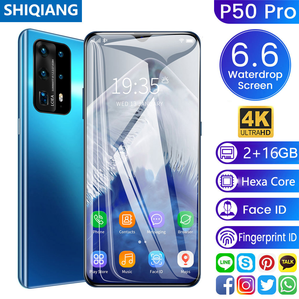"SOYES P50 Pro Android Phone Rear 5 Camera 6.6"" Full Screen 2GB+16GB Dual SIM Card Global Language Original Mobile Phone 5000mAh 1"