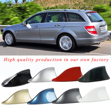 цена на Best price Car Shark Antenna Auto Exterior Roof Shark Fin Antenna FM/AM Signal Protective Aerial Car Styling