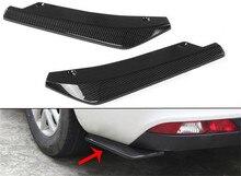 2pcs Universal Gloss Carbon Fiber Car Wrap Angle Splitter Protector Side Fins Rear Bumper Spoiler Canards Anti-crash Diff 2pcs metal diff main