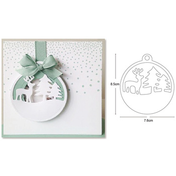 Christmas Deer Tree Ornament Pendant Metal Cutting Dies for DIY Scrapbooking dies Paper Card Decor Craft dies Embossing Die Cuts 3 pcs set flowers petals dies craft metal cutting dies cut die cuts scrapbooking paper card craft embossing die cuts 2020