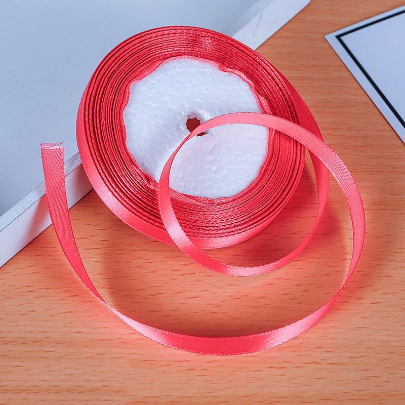 25 ярдов/рулон атласная лента Гро-Гро ленты для свадьбы Рождественская вечеринка украшения «сделай сам» бант ленты для поделок Упаковка для подарков - Цвет: 14