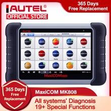 Autel MaxiCOM MK808 OBD2 الماسح الآلي سيارة أداة تشخيص OBD 2 EScaner TPMS رمز قارئ OBDII مفتاح الترميز CRP 909X CRP909