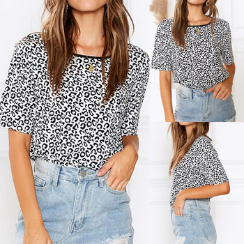 Hot Women Summer Leopard Print T shirt 2020 New Fashion O-neck Short Sleeve T-shirts Female Casual Loose Tops Tees Camisas Mujer swicci men s summer loose short sleeve tees brand female print solid color o neck t shirts madam comfortable high quality casual
