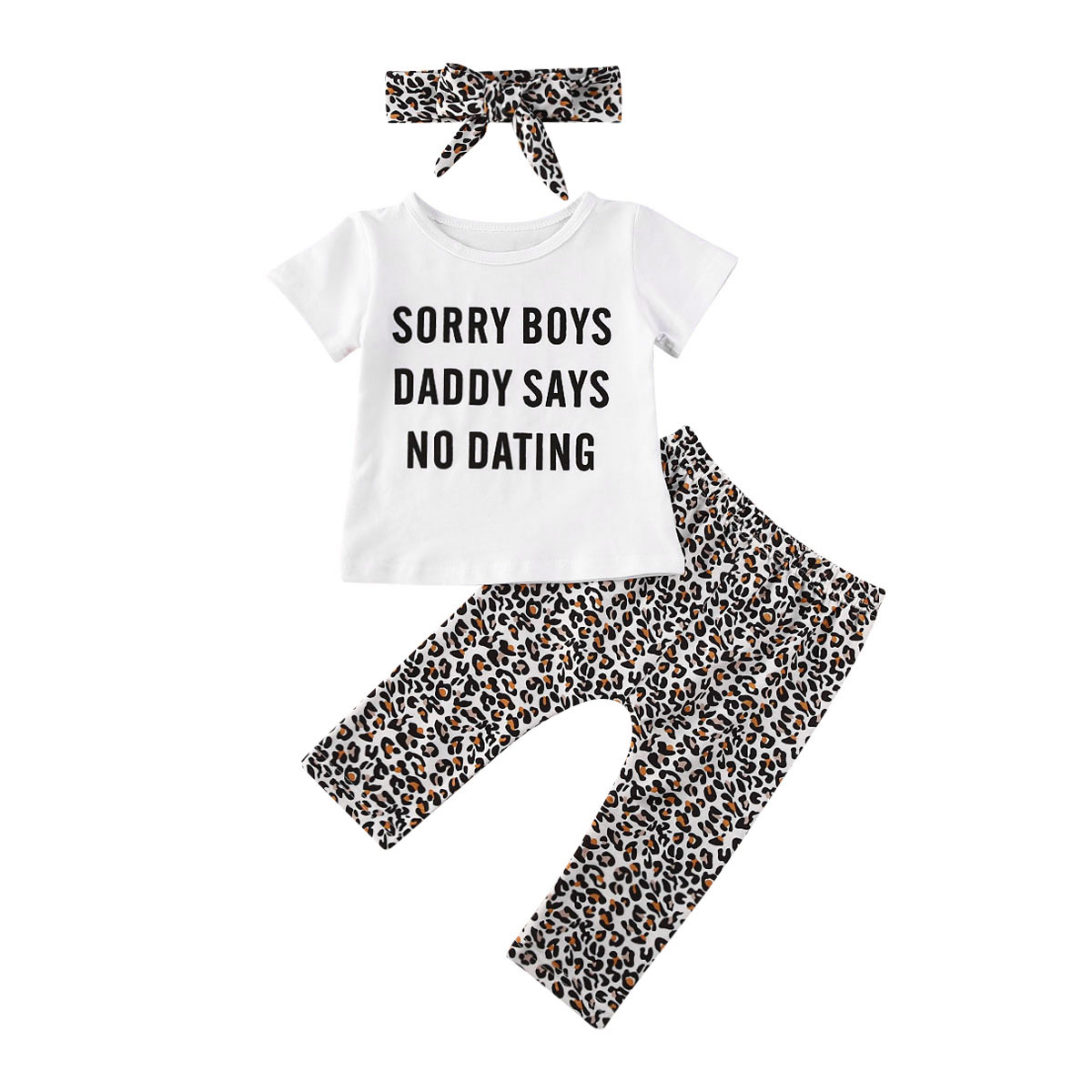 US 3PCS Valentine/'s Day Kid Baby Girl Clothes Tops T-shirt+Pants Leggings Outfit