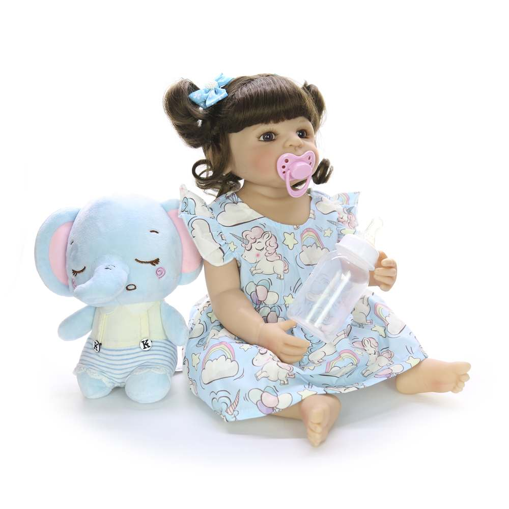 22 ''55 cm Silicone corps complet Reborn poupées mode réaliste Reborn Boneca vivant poupée pour enfants jour cadeaux enfants présents - 3