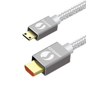Image 2 - מיני HDMI ל hdmi כבל 1M 2M 3M 5M 1080p 3D במהירות גבוהה מתאם זהב מצופה תקע עבור מצלמה צג מקרן נייד טלוויזיה