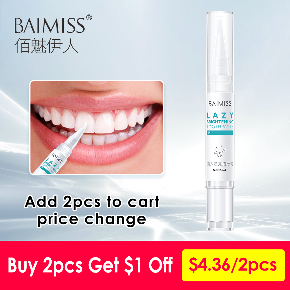 BAIMISS Teeth Whitening Serum Toothpaste Toothbrush Pen Cleansing Dental Tools Essence Gel Oral Hygiene Remove Plaque Stains 5ml