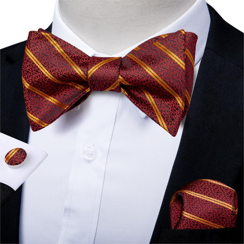 Bow Tie Classic Men Adjustable Tuxedo Bowtie Wedding Party Necktie Handkerchief