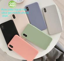 цена на Fitted silicone case Pure color imitation of liquid silica gel case For iphone xr case iphone 7 case iphone 8 case iphone case