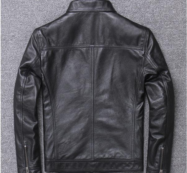 H0acf576666754ef9b0b9c9cf3ba1604c5 YR!Free shipping.sales.Clearance.$99.99 cowhide jacket.mens genuine leather coat.fashion vintage casual leather outwear.classic