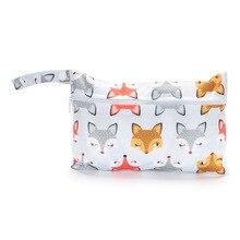 50pcs Mini Diaper Wet Bag Reusable Waterproof PUL Single Pocket Zipper Stroller Travel Bags Washable Diaper Nappy Bag Wetbag