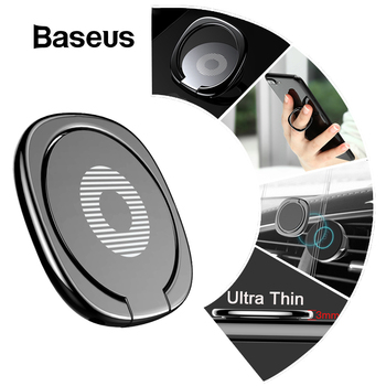 Baseus Metal Finger Ring Holder For iPhone XS 8 Samsung Phone Ring Mobile Phone Holder Stand For Magnetic Car Phone Holder Stand