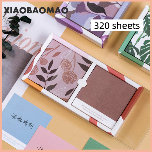 320 Sheets Creative Pantone Color Memo Note Pad Message Notepads Paper Square Office Message Paper Stationery Supplies