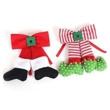 Рождественский бант, украшение, Красный Эльф, украшение для дома, Рождественский подарок детям