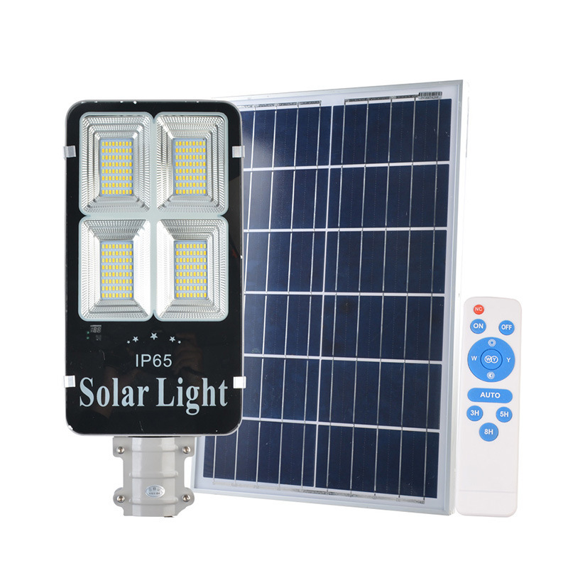 4pcs 200w 300w Solar Power Panel LED Street Light Solar Lighting Outdoor Path Wall Emergency Lamp Security Spot Light