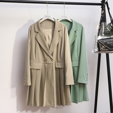 Summer Spring Thin Suit Blazer Women New Casual Pleated Loos