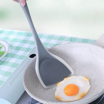 Accesorios de cocina Alta Calidad resistente al calor silicona antiadherente espátula mango largo pala espesante buena ayuda de cocina