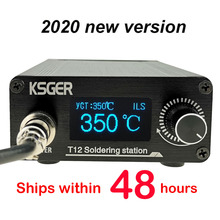 KSGER T12 납땜 스테이션 DIY STM32 V3.1S OLED 공구 납땜 T12 철 팁 알루미늄 합금 907 손잡이 금속 스탠드 빠른 열