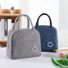 Qlunch-Bag Package Food-Box Breakfast Insulation Travel Picnic Waterproof Portable Pure-Color