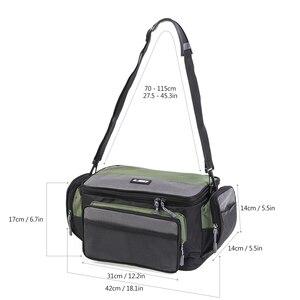 Image 3 - 방수 낚시 가방 다기능 낚시 태클 가방 물고기 도로 릴 루어 후크 스토리지 어깨 가방