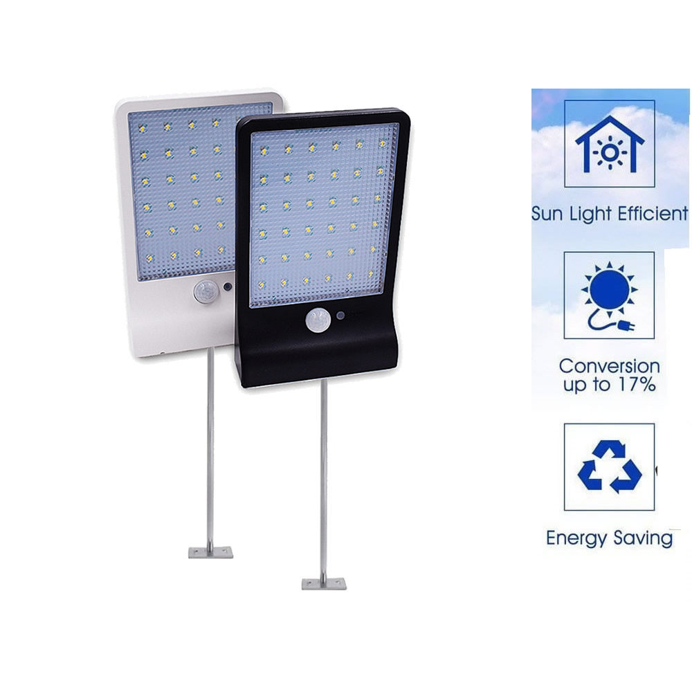 Metal Poles 3 Models Dimmable Solar Lamp PIR Motion Sensor Solar Light 48 LED Outdoor Garden Yard Path Wall Lamp With Remote Con