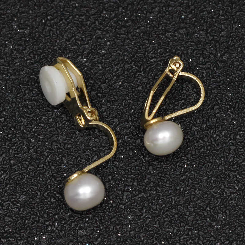 Freshwater Pearl Clip On Earrings Without Piercing Natural Pearls Earrings No Hole Ear Clip Minimalism Earring Jewelry CE377