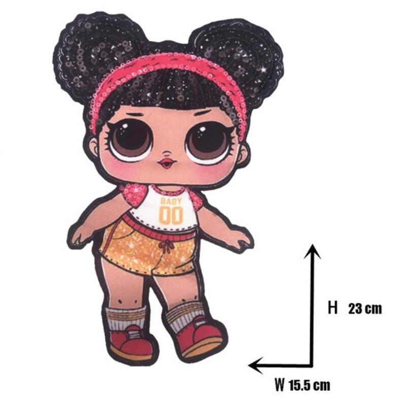 Мультяшные нашивки женские модные куклы лол для девочек Милая Модная Кукла-мальчик вышивка на одежду ручная работа украшение одежды Блестки Ткань - Цвет: WW-36