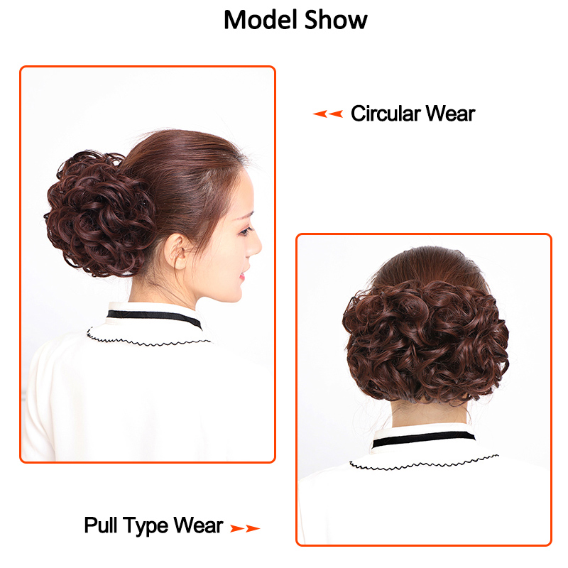 Top SaleBig Bun Hair-Extension-Bun Synthetic-Hair Chignon Hairpiece Clips-On Women for Two-Comb║