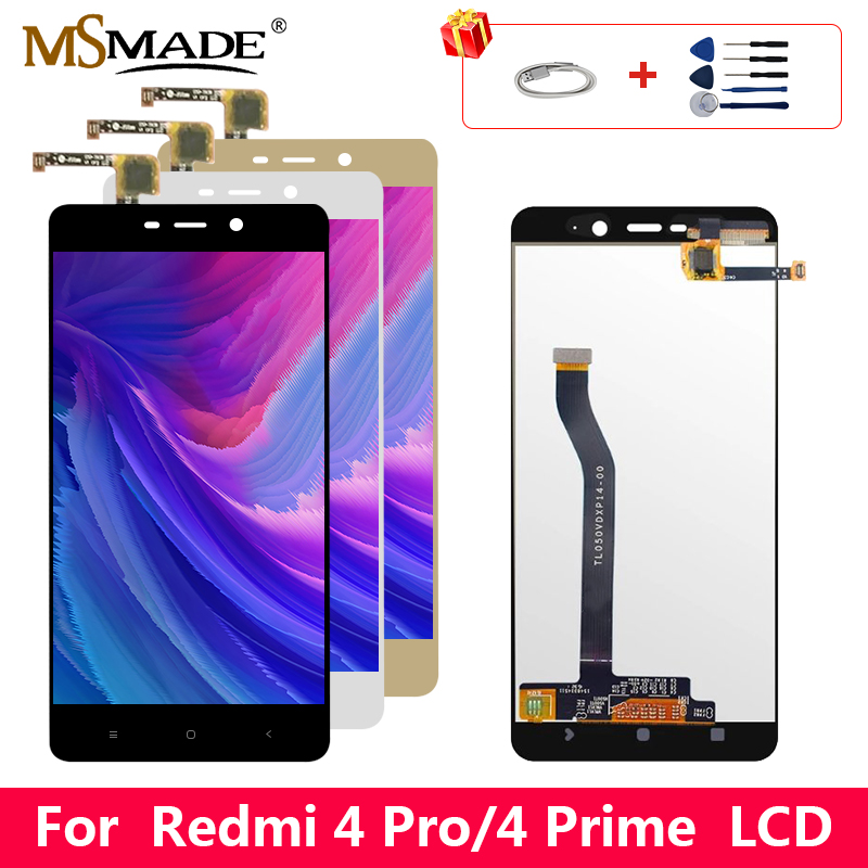 Original For <font><b>Xiaomi</b></font> <font><b>Redmi</b></font> <font><b>4</b></font> <font><b>Pro</b></font> LCD <font><b>Touch</b></font> <font><b>Screen</b></font> Digitizer Display Replacement Parts With Frame For <font><b>Redmi</b></font> <font><b>4</b></font> Prime Display image