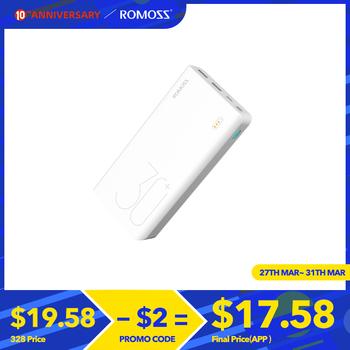 30000mAh ROMOSS Sense 8 + Power Bank przenośna bateria zewnętrzna z PD dwukierunkowe szybkie ładowanie przenośny ładujący powerbank na telefon tanie i dobre opinie Bateria litowo-polimerowa Wsparcie szybkie ładowanie Typ C Podwójny USB Micro Usb Dla Laptop Do tabletu Do smartfona USB Typu C