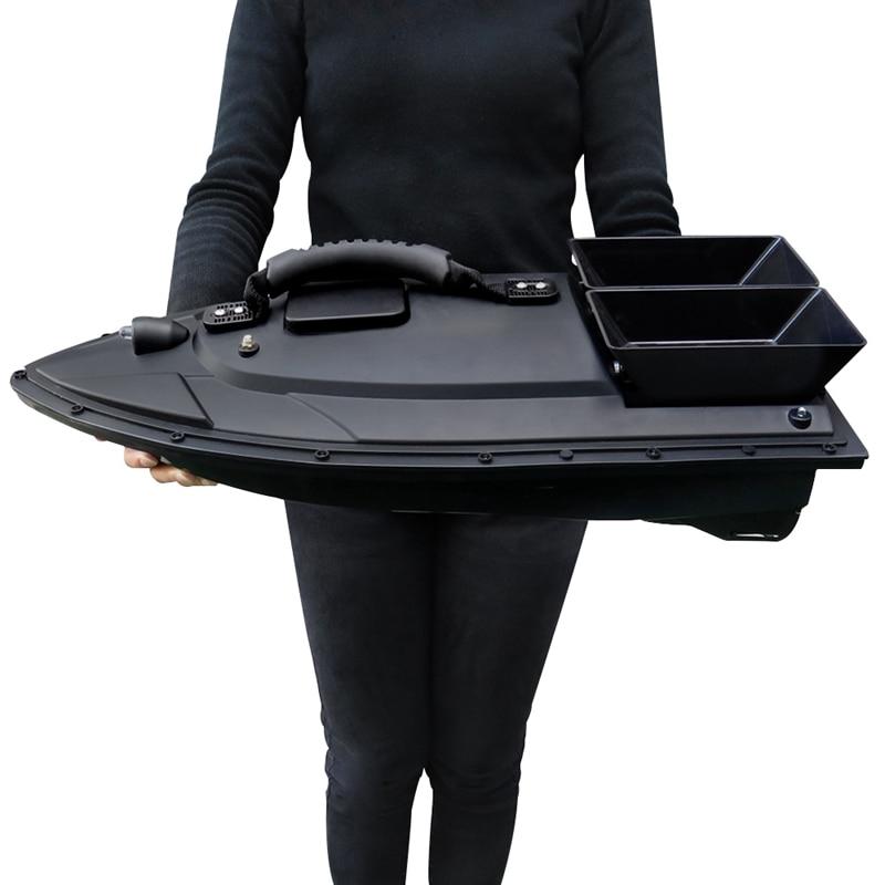 Smart Bait Boat de doble Motor buscador de peces Barco de Control remoto 500M barcos de pesca lancha rápida con enchufe de la UE - 6