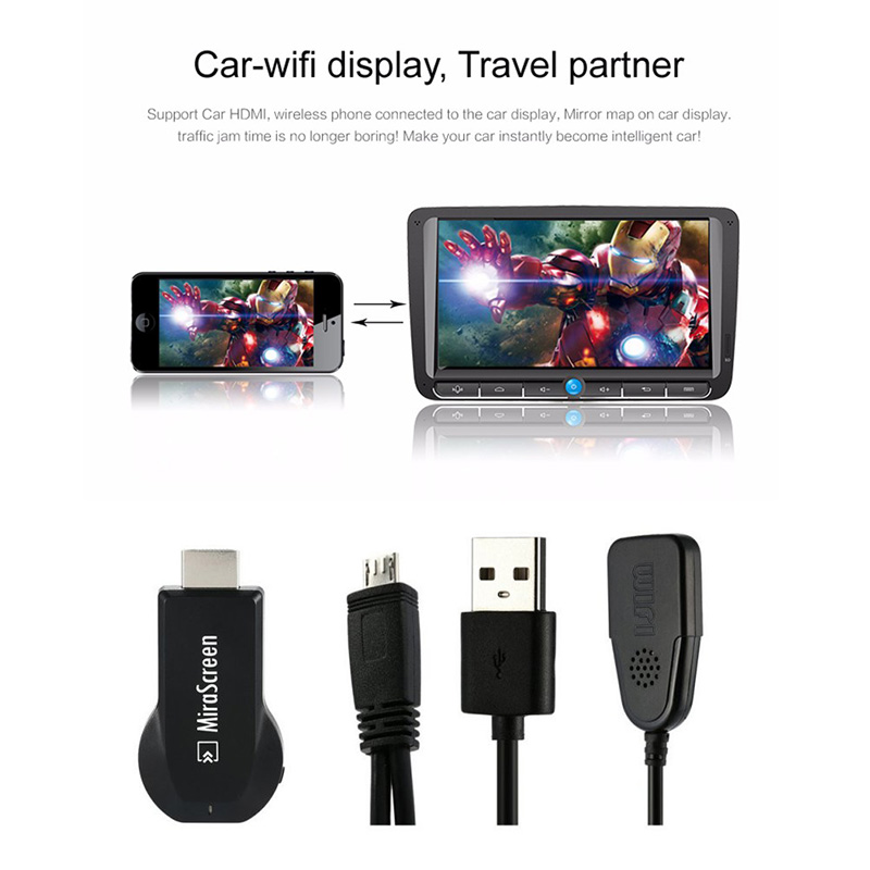 MiraScreen WIFI HDMI TV Stick Dongle Wireless Receiver DLNA Airplay for Phone TV