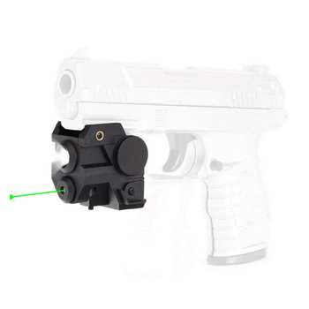 Tactical Compact Green Laser Sight with CREE LED Flashlight Integrated Combo for Pistol Rifle Weaver Picatinny Rail