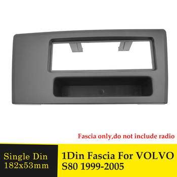 One Din Radio Fascia Car Multimedia Player Frame for Volvo S80 1999-2005 GPS Navigation Headunit Stereo DVD Player Bezel Panel image