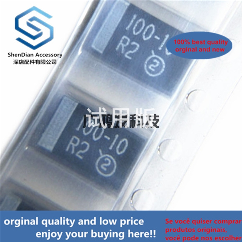 10pcs 100% Orginal New Best Qualtiy 10V100UF D-type Tantalum Capacitor 7343 2917 20% Black Seed Bile Capacitor New Ori  In Stock