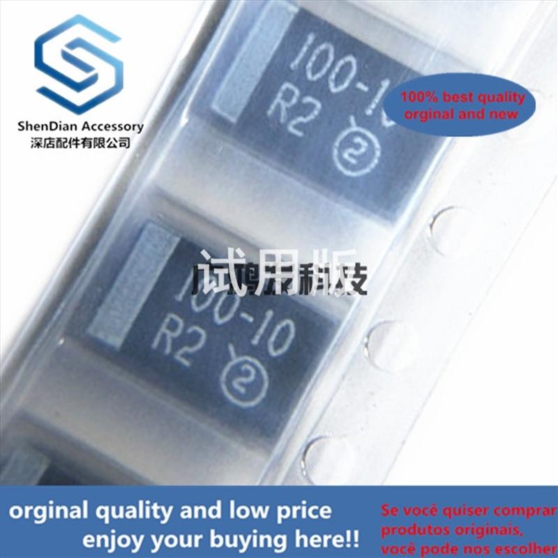 10pcs 100% Orginal New Best Qualtiy 10V100UF D-type Tantalum Capacitor 7343 2917 20% Black Seed Bile Capacitor New Ori  In Stock