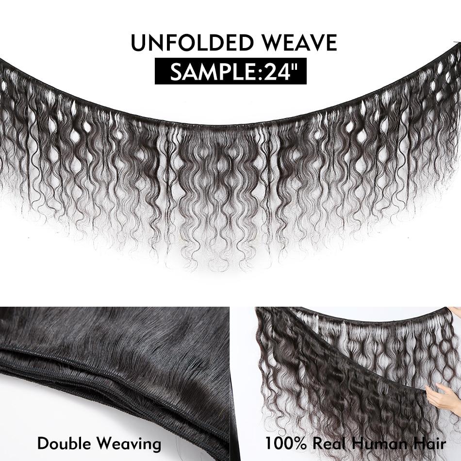 Halo Body Wave 26 28 30 Inch  100%   1 3 4 Bundles Natural Raw Double Drawn Virgin  Bundle 6