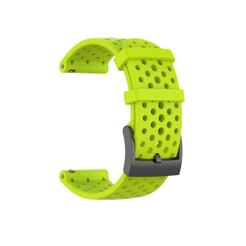 Guarda Accessori Per Suunto 9 D5 Cinturino Band Per Suunto Spartan Sport Suunto Spartan di Sport Da Polso HR/Baro 24 millimetri cinturino In Silicone