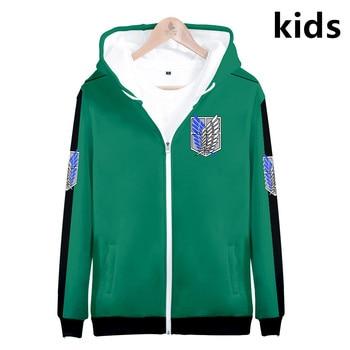 3 to 14 years kids hoodie Anime Attack on Titan Shingeki no Kyojin 3d hoodies sweatshirt boys girls Jacket coat children clothes